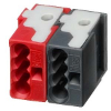 KNX red/black connector blocks