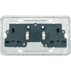 2-gang 13 A BS socket insert