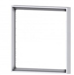 Square plastic frame Flank Ice White