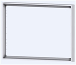 Rectangular plastic frame Form Ice White