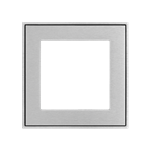 Square metal plate 60x60 window Aluminium