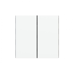 Rectangular vertical plastic rocker (2 pcs.) - for 2-fold pushbutton FF series Ice White