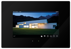 "Iddero HC3-KNX 7"" TOUCH PANEL GLASS Black"
