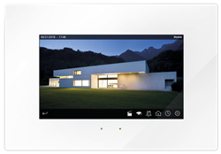 "Iddero HC3-KNX 7"" TOUCH PANEL,GLASS WHITE"