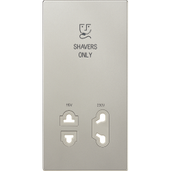 Centre plate for electric shaver socket outlet