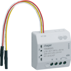 flush mounted output 3A 230V + 2 inputs mains powered