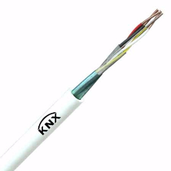 2 Pair white KNX bus cable