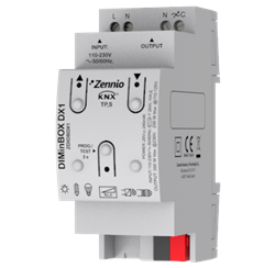 DIMinBOX DX1. Universal dimmer actuator for DIN rail mounting. 1 channel x 350W