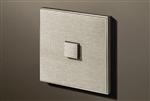 Select 1 Gang KNX Push Button in Stainless Steel with led & temperature sensor