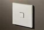 Select 1 Gang KNX Push Button in Matt White with led & temperature sensor