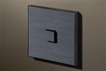Select 1 Gang KNX Push Button in Gunpowder Black (Fusain) with led & temperature sensor