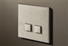 Select 2 Gang KNX Push Button in Stainless Steel with led & temperature sensor