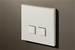 Select 2 Gang KNX Push Button in Matt White with led & temperature sensor