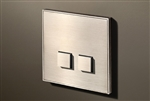 Select 2 Gang KNX Push Button in Nickel with led & temperature sensor
