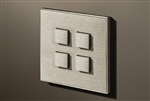 Select 4 Gang KNX Push Button in Stainless Steel with led & temperature sensor