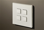 Select 4 Gang KNX Push Button in Matt White with led & temperature sensor