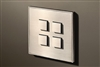 Select 4 Gang KNX Push Button in Nickel with led & temperature sensor