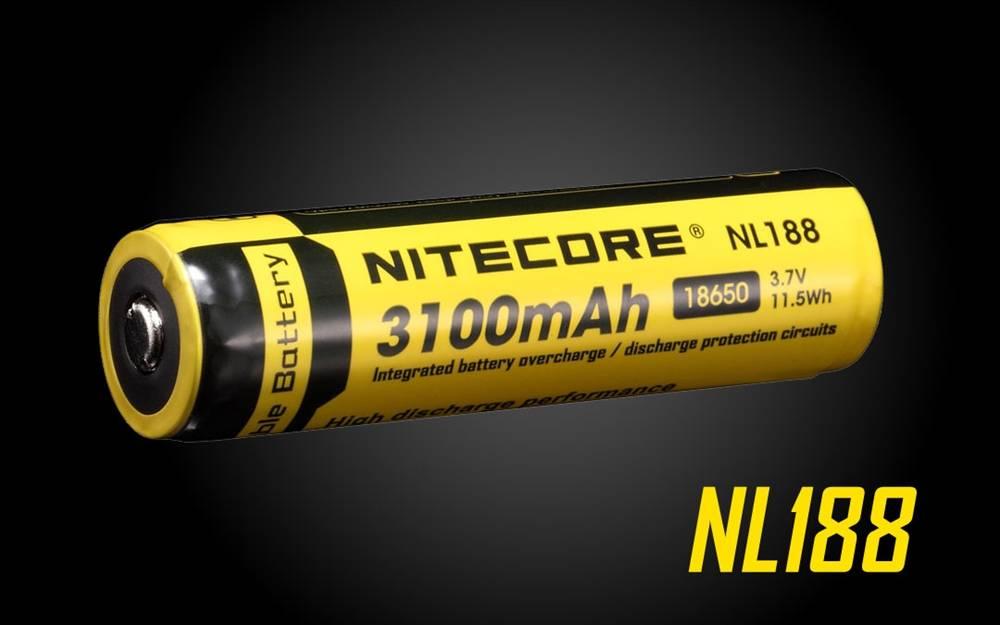 Nitecore 3.7V 3100mAh Li-ion 18650 Protected Rechargeable Battery NL188