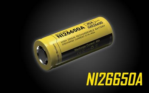 Nitecore NI26650A Flat-top 26650 Battery for Vaping and High Drain Devices