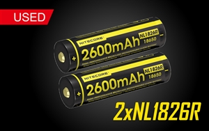 Nitecore NL1826R 2600mAh Built-In Micro-USB Rechargeable 18650 Battery