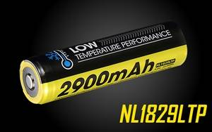 NITECORE NL1829LTP 2900mAh 18650 High Capacity Performance Low Temperature Resistant Rechargeable Batteries