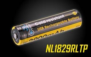 NITECORE NL1829RLTP 2900MAH 18650 Low Temperature Resistant High Performance Micro-USB Rechargeable Li-ion Battery