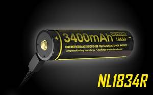 Nitecore NL1834R 3400mAh Built-In Micro-USB Rechargeable 18650 Battery