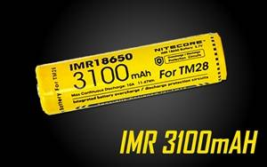 Nitecore IMR 3100 mAH Rechargeable 18650 Battery