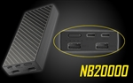Nitecore NB20000 QC USB & USB-C 4 Port 20000mAh Power Bank