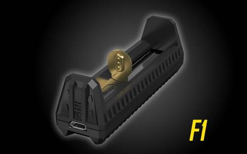 Nitecore F1 Flex Solar Outdoor Charger for 18650, 16340(RCR123), &14500 Batteries