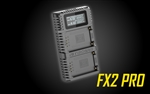 NITECORE FX2 PRO Dual Port USB Digital Charger for Fujifilm NP-T125 Batteries