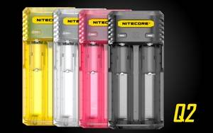 NITECORE Q2 Dual-Slot 2A Quick Charger for Li-Ion/IMR Batteries 18650, 26650, 16340, RCR123A, 14500