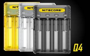NITECORE Q4 Four-Slot 2A Quick Charger for Li-Ion/IMR Batteries 18650, 26650, 16340, RCR123A, 14500