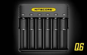 NITECORE Q6 Six Slot 2A Universal Li-ion/IMR Battery Charger for 18650 16340 RCR123A 14500 18350 and more