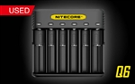 NITECORE Q6 Six Slot 2A Universal Li-ion/IMR Battery Charger for 18650 16340 RCR123A 14500 18350 and more - Used