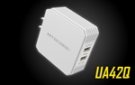 NITECORE UA42Q 2-Port Quick-Charge USB 2.0 & 3.0 Adapter