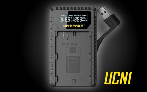 Nitecore UCN1 Canon EOS Battery Dual Port USB Travel Charger