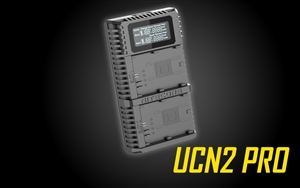 NITECORE UCN2 Pro Dual-Slot Fast Digital USB Charger for Canon LP-E6N Camera Batteries