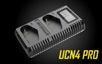 NITECORE UCN4 PRO Digital USB Charger for Canon LP-E4 & LP-E4N Camera Batteries