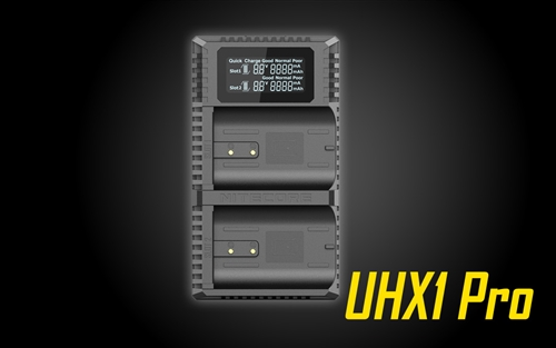 Nitecore UHX1 Pro Dual Slot USB Battery Charger for Hasselblad X System Batteries