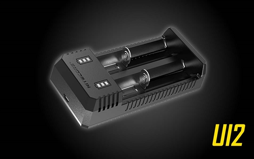 NITECORE UI2 Dual-Slot Intelligent Portable USB Li-ion Battery Charger for 18650, 18350, 20700, 21700 Batteries