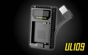 NITECORE UL109 Digital Dual Slot USB Travel Battery Charger for Leica D-LUX TYP109