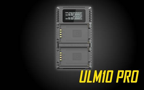 NITECORE ULM10 Pro Digital QuickCharge 2.0 USB Battery Charger for Leica BP-SCL5 Batteries