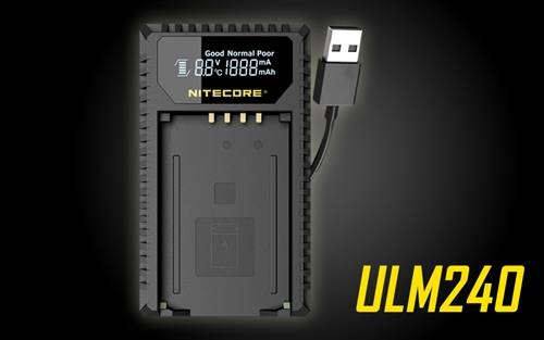 Nitecore ULM240 Travel Battery Charger for Leica M240 Series Camera Batteries