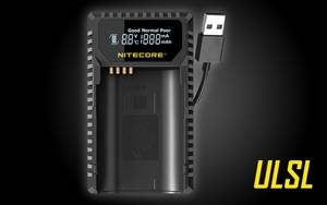 Nitecore ULSL Travel Battery Charger for Leica SL Series Camera Batteries