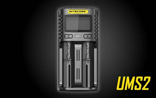 NITECORE UMS2 Intelligent USB Dual-Slot Superb Battery Charger