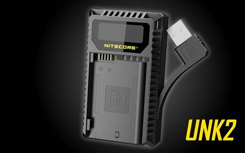 NITECORE UNK2 Dual Port USB Digital Charger for Nikon Batteries EN-EL15