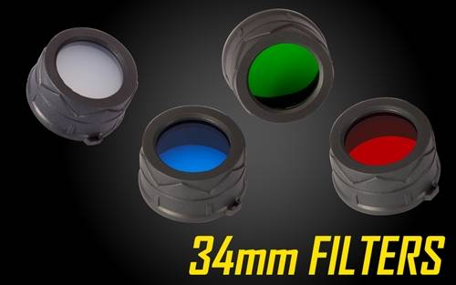 Nitecore Red Green Blue 34mm Filter Diffusor