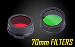 Nitecore 70mm Red or Green Filter (NFG70, NFR70) for MH40GTR