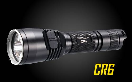 Nitecore CR6 440 Lumens White & Red Dual Beam LED Hunting Flashlight w/ RGB Color Lights